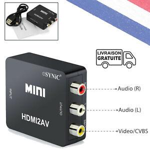 1080p Adaptateur vidéo composite audio / vidéo vers HDMI / 3 RCA USB audio R / L