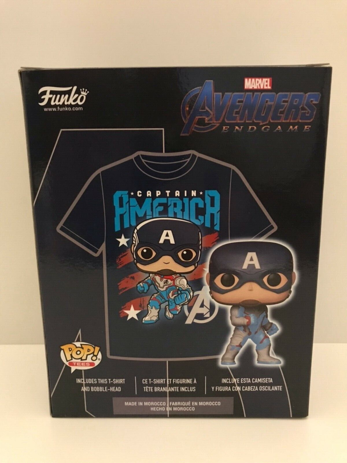 Captain America Funko Pop London MCM Comic Con Exclusive With Large T-shirt