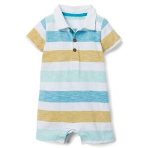 NWT-Gymboree-California-Dreamers-Baby-Boys-Striped-Polo-One-Piece-Romper-Sunsuit