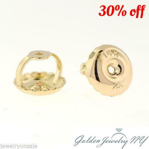 20adc8dfb 14k Solid Yellow Gold Screw on Screw off Replacement Earring Backs 1pair  (2p) for sale online | eBay