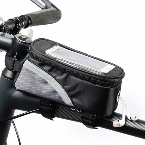 Waterproof MTB Bicycle Bike Front Frame Bag Touch Screen Moilbe Phone Pouch Bag