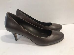Cole-Haan-Womens-Brown-Leather-Pump-Heels-Size-7-B