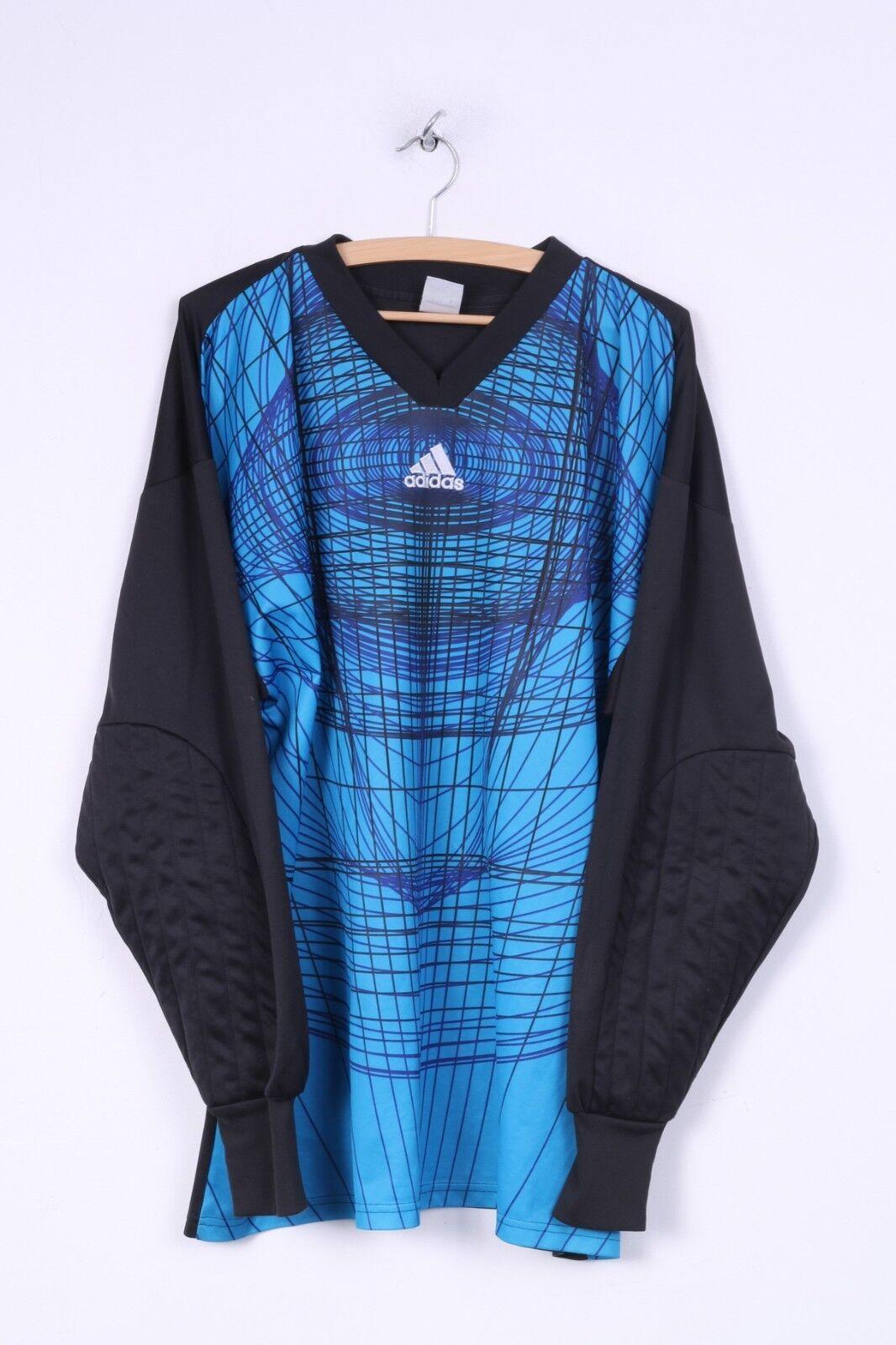Camiseta adidas Mens XL, camiseta de portero, ropa deportiva deportiva, camiseta deportiva de fútbol de manga larga