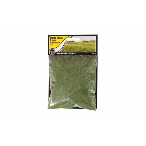 Woodland Scenics 614 Static Grass Medium Green 2mm for sale online