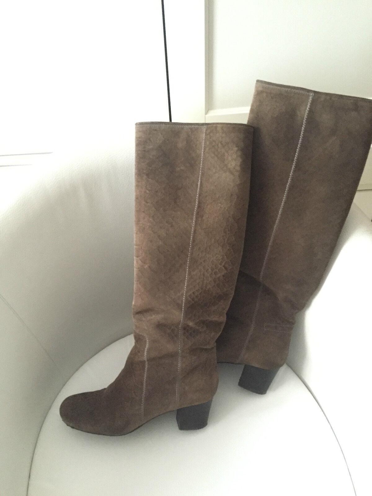 Original lanvin Paris botas de gamuza marrón EUR us 5