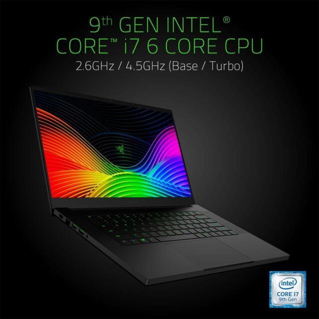 Razer Blade 15 15 6 521gb Ssd Intel Core I7 4 5ghz 16gb Ram Nvidia Geforce Rtx 2060 Gaming Laptop Black For Sale Online Ebay