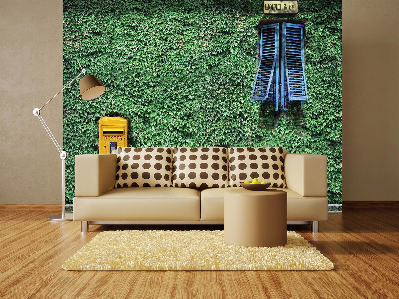 3D Grün Leaves 824 Wallpaper Mural Paper Wall Print Wallpaper Murals UK Lemon