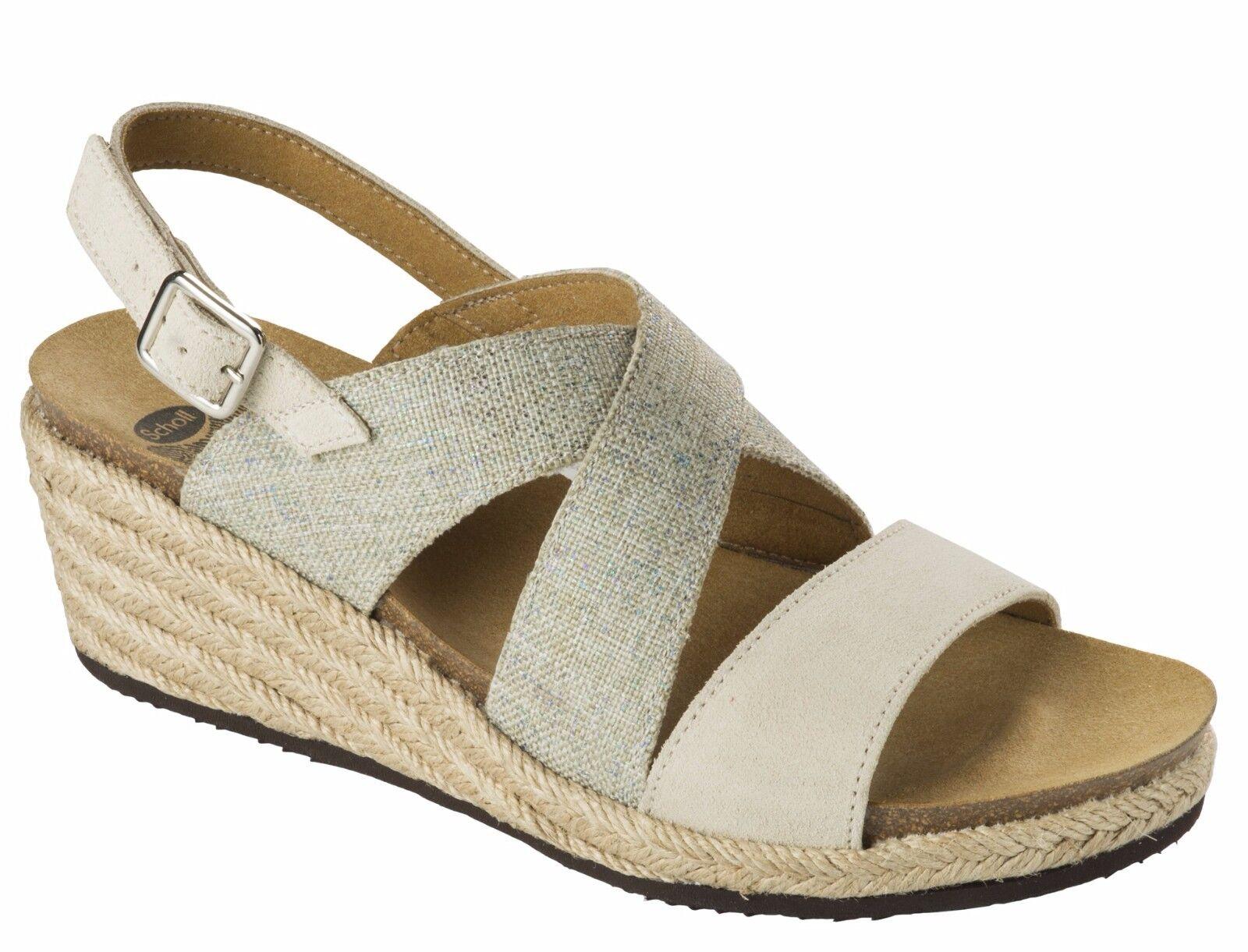 SCHOLL SOTIRIA pantofole BioPrint sandali pantofole SOTIRIA ciabatte zoccoli infradito donna zeppa 6692ba