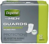 Depend For Men Incontinence Guards, Maximum Absorbency 52 Ea (pack Of 3) on sale