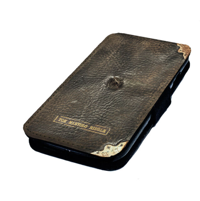 Tom Riddle's Diary - Printed Faux Leather Flip Phone Cover Case Potter Inspired