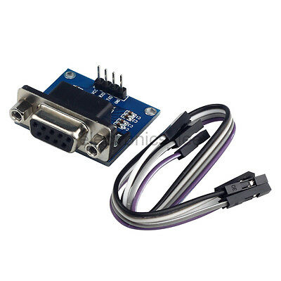 2pcs MAX3232 RS232 To TTL Converter Module DB9 Connector for ACM Robot Smart Car
