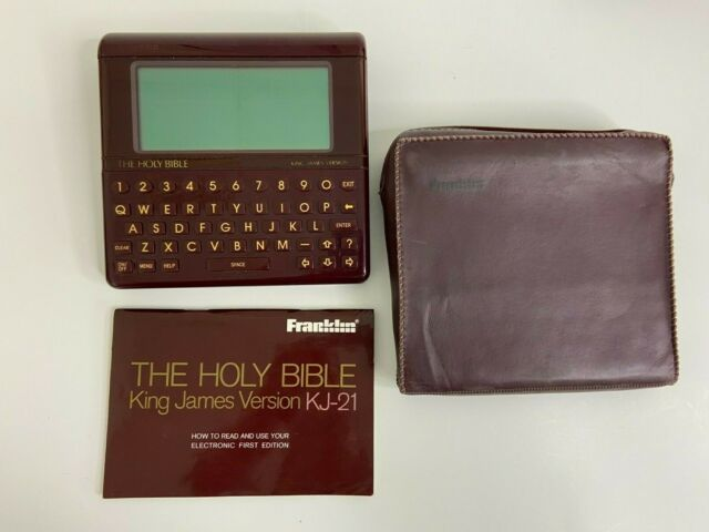 Franklin Holy Bible King James Version KJ-21 Electronic Hand-Held First Edition