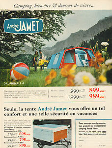 Image is loading Advertising-advertising-1968-andre-jamet-tent -c&ing-equipment- & Publicité Advertising 1968 André JAMET matériel camping tente ...