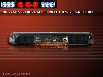 99-06 SILVERADO SIERRA 3RD THIRD BRAKE CARGO LED LIGHTS SMOKE LENS