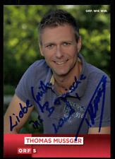 Thomas Mussger ORF Autogrammkarte Original Signiert ## BC 52356