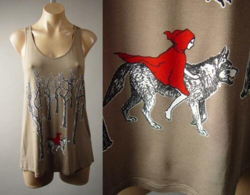 Little Red Riding Hood Wolf Goth Fairy Tale Graphic Tank Top 249 mv Shirt S M L
