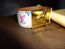 LOUIS VUITTON MULTI COLORE CUFF BRACELET WITH BOX AND DUST BAG