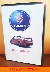 Saab Wis Epc Service Shop Repair Manual Parts Catalog Wiring Diagrams Dvd Ebay