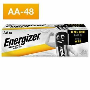 Energizer AA Batteries, alcalines Power Double A Piles, 48 Pack