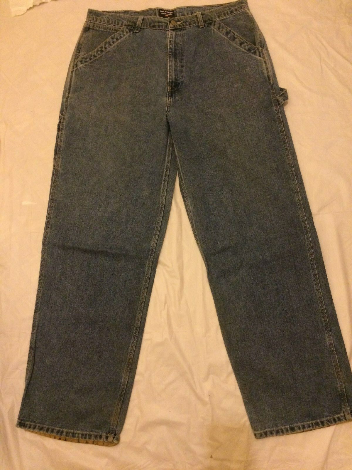 Ralph Lauren Polo Contruction Jeans with Leather POLO Cuffs
