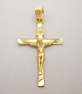 10k-Yellow-Gold-Thin-Small-Cross-Pendant-Gold-Crucifix