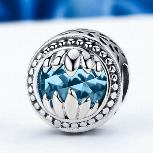 Authentic 925 Sterling Silver Dazzling Charm Pendant Beads Jewelry For Women