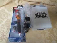 Star Wars Episode 1 Wrist Watch - Nelsonic & Luke Skywalker Lego Pen