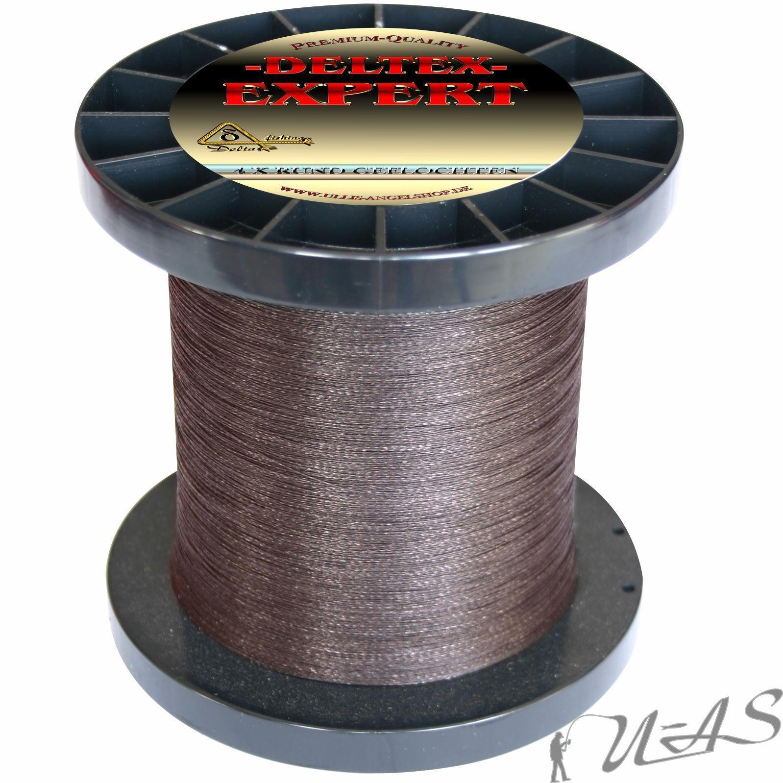 Deltex Deltex Deltex Expert circa intrecciato Dyneema lenza 0,18mm 1000m Marrone KVA 0eca0d