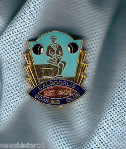 #D116. KALGOORLIE  BOWLING   CLUB   BADGE, FOUNDED 1905, PADDY HANNON  THEME
