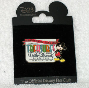 D23 Mickey Mouse Pin Treasures Of Walt Disney Archives Reagan