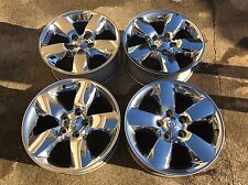 Set of (4) DODGE RAM 1500 20 INCH CHROME CLAD WHEELS RIMS Factory OEM 2495