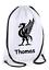 Personalised Drawstring Bag FOOTBALL Liverpool GIFT PE Gym Game School Kids Girl