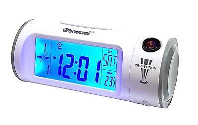 Led Licht Projektions Digital Wecker Uhr Geräusch Sensor Temperatur 12/24 Neu Fijn Vakmanschap