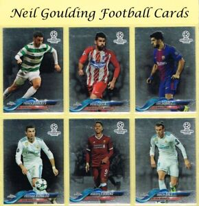 Topps-CHAMPIONS-LEAGUE-CHROME-2017-2018-Football-Base-Cards-1-to-99