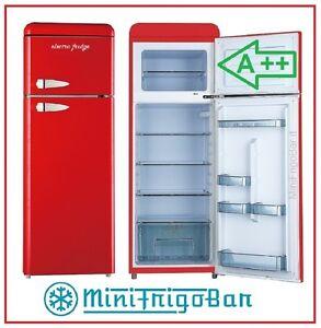 Frigorifero vintage frigo anni 50 bombato rosso combinato for Frigorifero bombato
