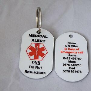 Personalised-Medical-Alert-Keyring-DNR-Do-Not-Resuscitate