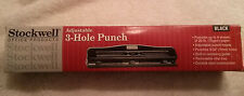 Hole Puncher Stockwell Office Products Three 3 Hole Punch Black Paper Puncher