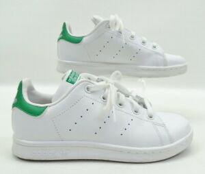 Details about Adidas Stan Smith White Green Low Top Sneakers Youth Size 2