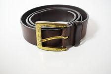 Calvin Klein Jeans Original Mens Leather Belt Marrone