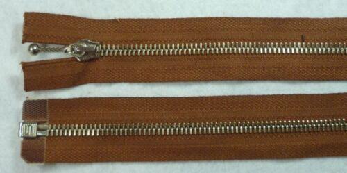 Salmi Reißverschluss Metall teilbar Pendelgriff 90cm rehbraun
