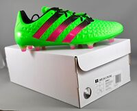 Adidas AF5083B ACE 16.1 FG/AG adults football boots - Green/Pink (White Box)