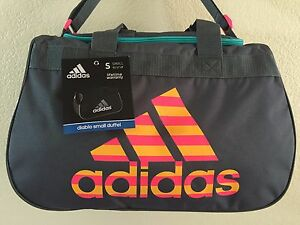 b471961c311 ADIDAS Diablo Small Duffel Women Onix Solar Pink Gym bag luggage ...