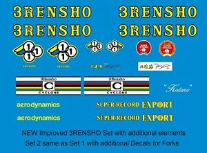 Transfers 01357 3Rensho Bicycle Stickers Decals