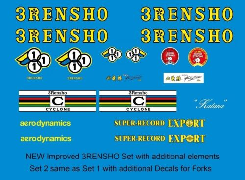 3Rensho Bicycle Decals-Transfers-Stickers #2