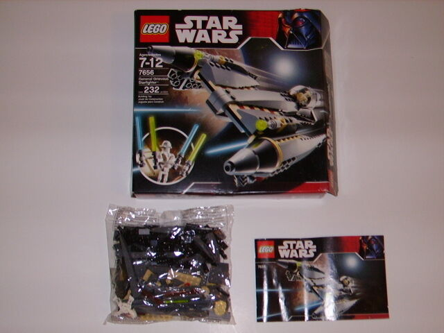 Lego  7656 STAR WARS General Grievous Starfighter Complete In  Box 232 Pcs 2007  promotions passionnantes