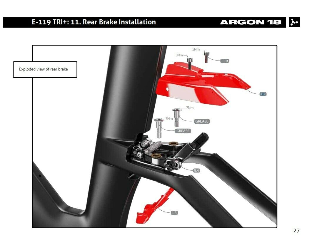 1.2 #80277 Argon18 Replacement E119 Rear Brake Cover