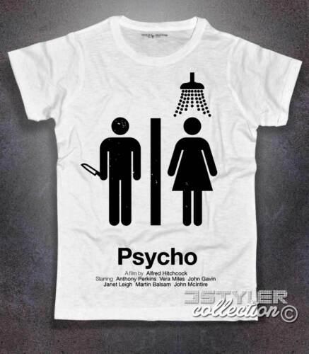 T-shirt uomo PSYCHO PSYCO Hitchcock Bates Motel Norman Bates no happinness