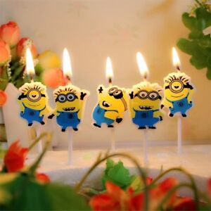 Image Is Loading MINIONS Novelty Birthday Cake Candle Candles Topper Figure