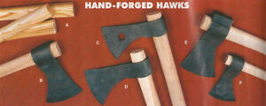 Hand-Forged-Hawks-Tomahawk-Throwing-Hawk-Mouse-Axe-Hickory-Handles-Handle-Camp