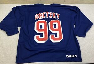 wholesale dealer ecd0e cb760 Details about Vintage CCM New York NY Rangers Wayne Gretzky 99 Blue Jersey  Shirt